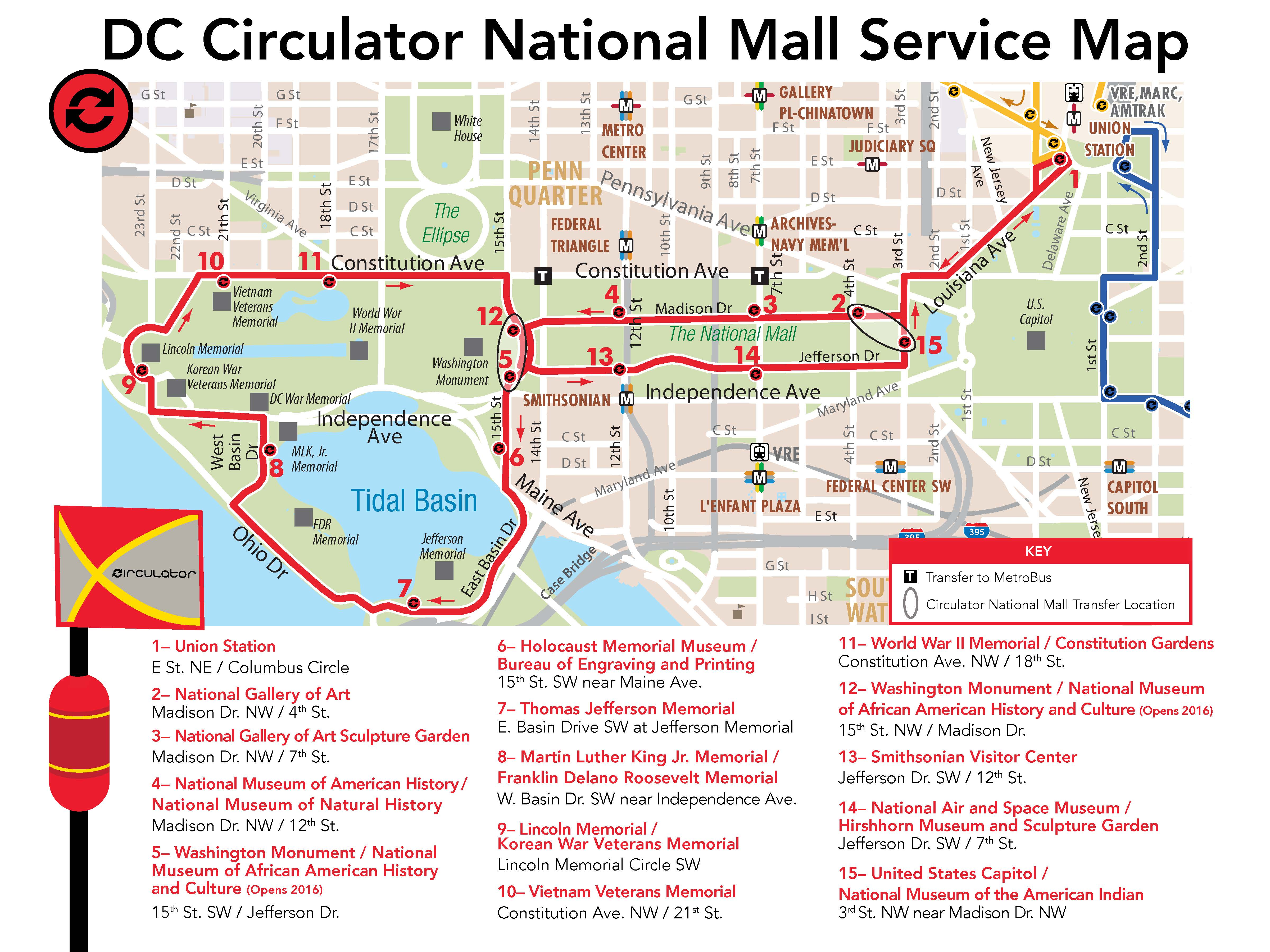 D.C. Circulator National Mall Route
