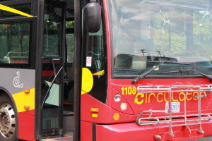 Circulator Bus Close Up